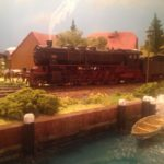 locomotiva a vapore in plastico ferroviario H0