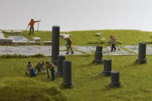 Diorama di area archeologica - dettaglio