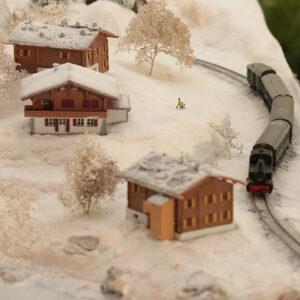 Il plastico ferroviario innevato
