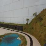 diorama lago per completamento di plastici ferroviari