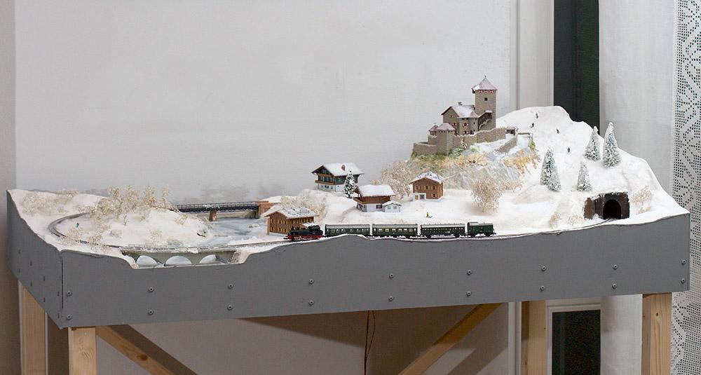 Plastico ferroviario invernale in scala N
