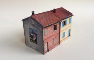 Edifici in stile italiano scala H0