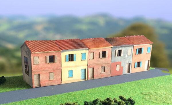 gruppo di edifici italiani in scala H0