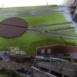 piattaforma ferroviaria e deposito locomotive Faller