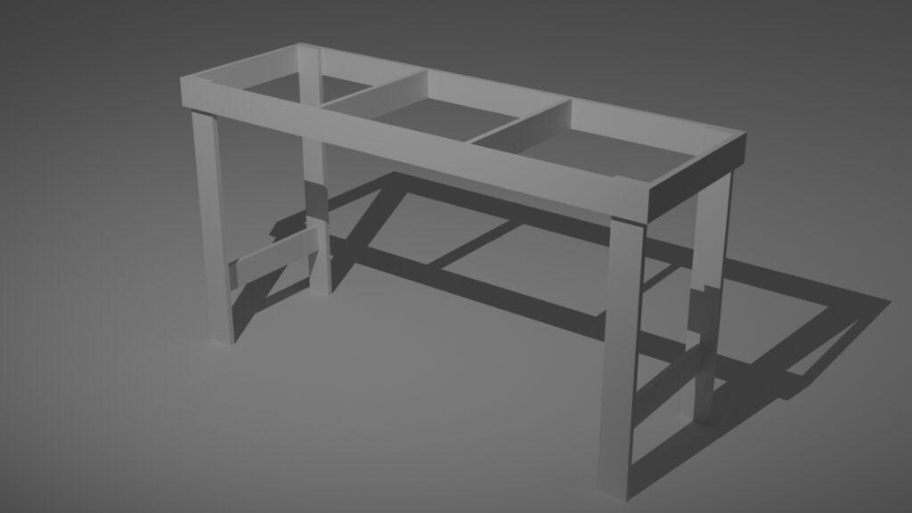 tavolo modulare per plastici