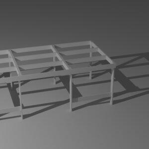 Tavoli modulari per plastici